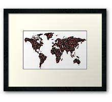 COFFEE MAPS Framed Print