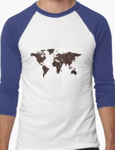 COFFEE MAPS Men's Baseball ¾ T-Shirt