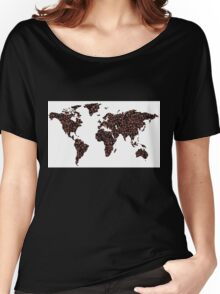 COFFEE MAPS Women's Relaxed Fit T-Shirt