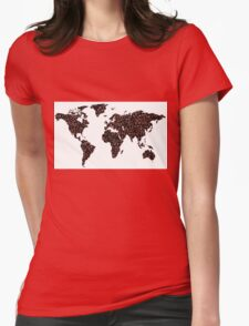 COFFEE MAPS Womens Fitted T-Shirt