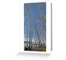 river water trees snow Greeting Card