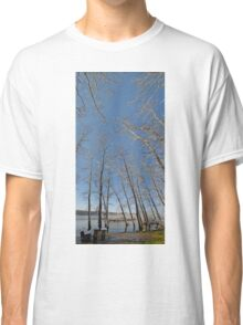 river water trees snow Classic T-Shirt