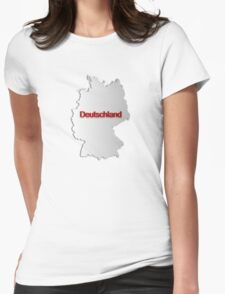 Map of Germany Womens Fitted T-Shirt