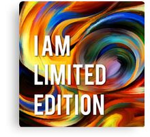 I am limited edition Canvas Print