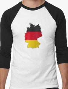 Map of Germany 2 Men's Baseball ¾ T-Shirt