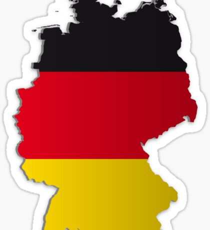 Map of Germany 2 Sticker
