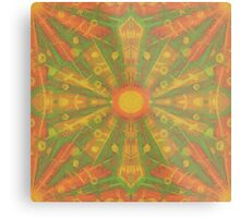 """""""Sunshine"""" abstract pattern in orange and yelllow tones Metal Print"""