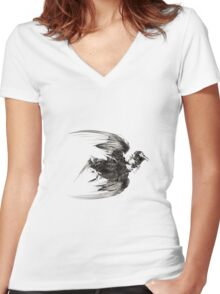 Like A Bird 2 Inverted Women's Fitted V-Neck T-Shirt