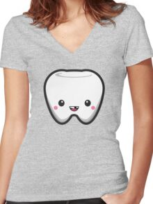 Toothless Tooth Women's Fitted V-Neck T-Shirt