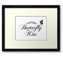 TAEYEON - Butterfly kiss Framed Print