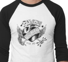 PEACHES Men's Baseball ¾ T-Shirt