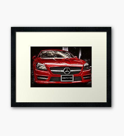 MERCEDES BENZ AMG Framed Print