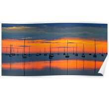 Dawn light - Corio Bay Poster