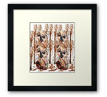 Forest Mosaic Owls  Framed Print