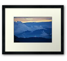 Mountain Layers Framed Print