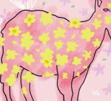 Goat rolled on flower garden  Sticker