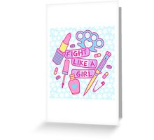 Girl Fighter Greeting Card