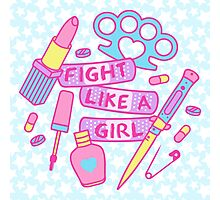 Girl Fighter Photographic Print