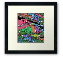 Mapping points Framed Print