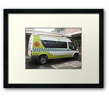 Patient Transport Ambulance, Warragul Framed Print
