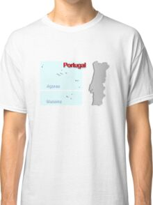 Map of Portugal 1.5 Classic T-Shirt