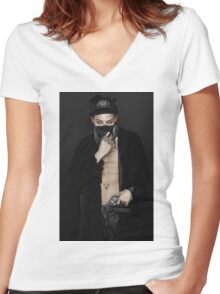 GDRAGON 004 Women's Fitted V-Neck T-Shirt