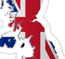 Map of the UK and Crown Dependencies Sticker