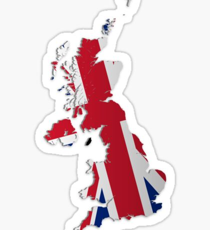 Map of the UK and Crown Dependencies 2 Sticker