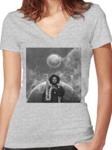 Kamasi Washington - The Epic Women's Fitted V-Neck T-Shirt