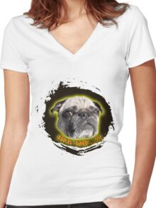 Pug you Women's Fitted V-Neck T-Shirt