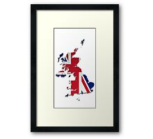 Map of the UK and Crown Dependencies 3 Framed Print