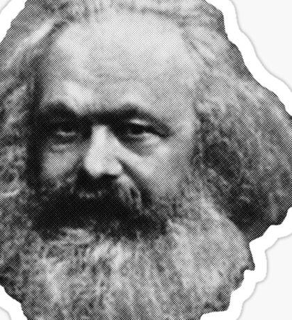 Karl Marx Floating Head Sticker