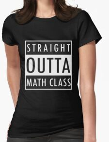 Straight Outta Math Class Womens Fitted T-Shirt