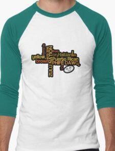 Phife Dawg - Brown Yellow Puerto Rican Haitian T-Shirt [2] Men's Baseball ¾ T-Shirt