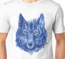 Wolf. Forest animal. Watercolor Animal Wolf. Unisex T-Shirt