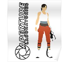 Chell and Aperture Science Logo Poster