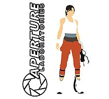 Chell and Aperture Science Logo Photographic Print