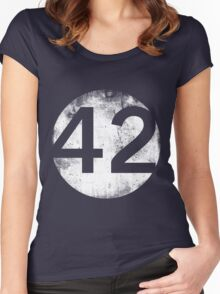 42 - Circle Hollow Women's Fitted Scoop T-Shirt
