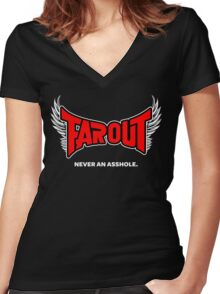 Farout A Women's Fitted V-Neck T-Shirt