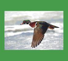 Colourful flight - Wood Duck Kids Tee