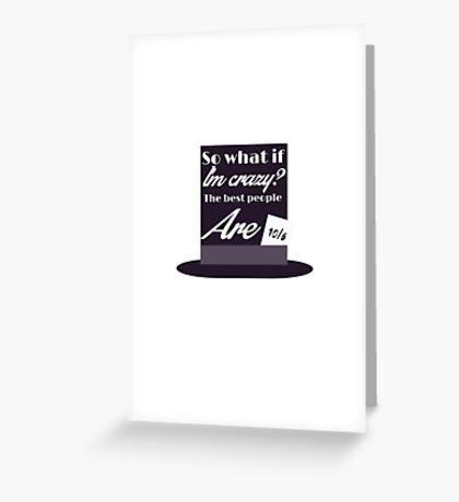 Melanie Mad Hatter Greeting Card