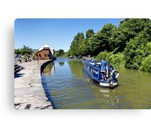 Devizes Wharf, Wiltshire, United Kingdom. Canvas Print