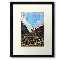 Deep Glacier Framed Print