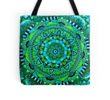 Green and blue mandala Tote Bag