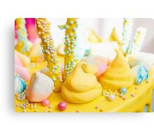 Beautiful bright colorful sweets for Birthday cake Canvas Print