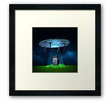 Tardis UFO Framed Print