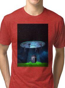 Tardis UFO Tri-blend T-Shirt