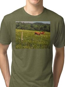 """""""Cattle Grazing """"... prints and products Tri-blend T-Shirt"""
