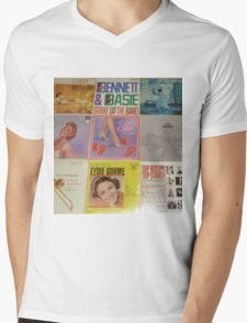 Vintage Records Collection 1B Mens V-Neck T-Shirt