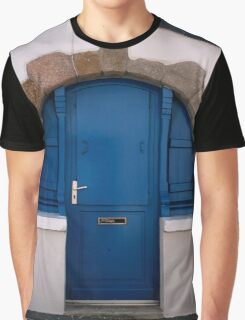 Blue door in circular stone arch Graphic T-Shirt